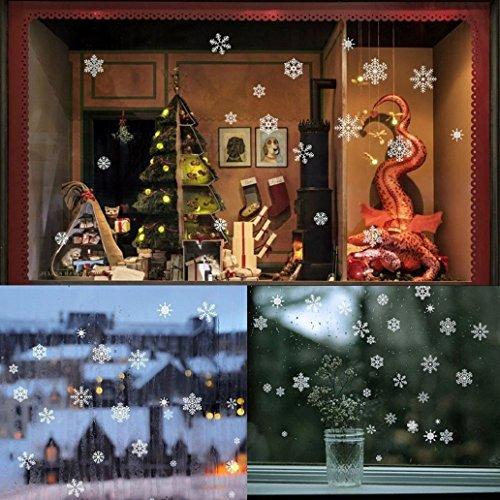 81 Vetrofanie Fiocchi di Neve per Natale Adesivi Statici in PVC