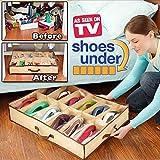 #4: New Household 12 Pairs Folding Shoes Storage Organizer Holder Intake Under Bed Closet Storage Fabric Bag Box-Cloudmall
