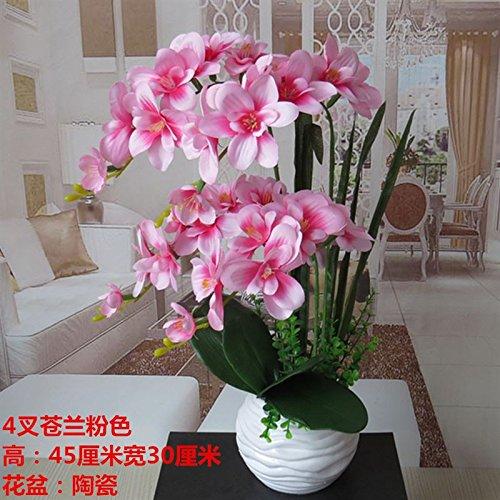 LIXIAOXIN Butterfly Orchid Bonsai False Dekoration Simulation Ornamente Topfpflanzen Rosa