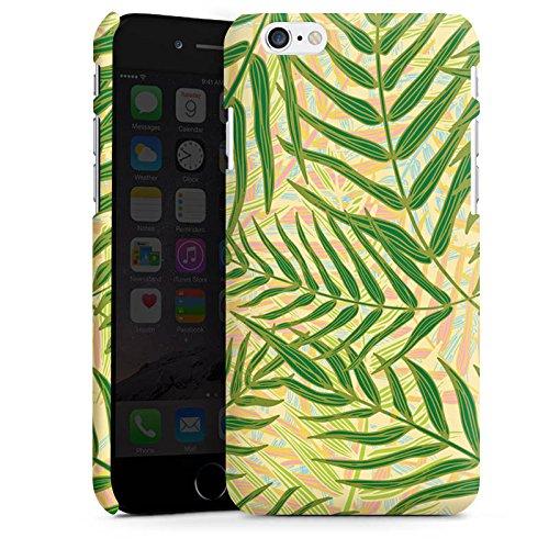 Apple iPhone X Silikon Hülle Case Schutzhülle Tropische dschungel Blätter Premium Case matt