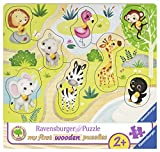 Ravensburger 03687 - Unterwegs im Zoo, my first wooden puzzle