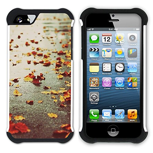 Graphic4You Herbst Leaves Bäume Postkarte Hart + Weiche Kratzfeste Hülle Case Schale Tasche Schutzhülle für Apple iPhone SE / 5 / 5S Design #11