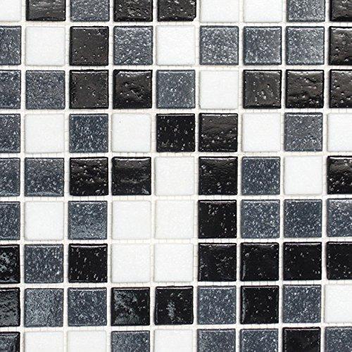 eiß grau schwarz für BODEN WAND BAD WC DUSCHE KÜCHE FLIESENSPIEGEL THEKENVERKLEIDUNG BADEWANNENVERKLEIDUNG Mosaikmatte Mosaikplatte ()