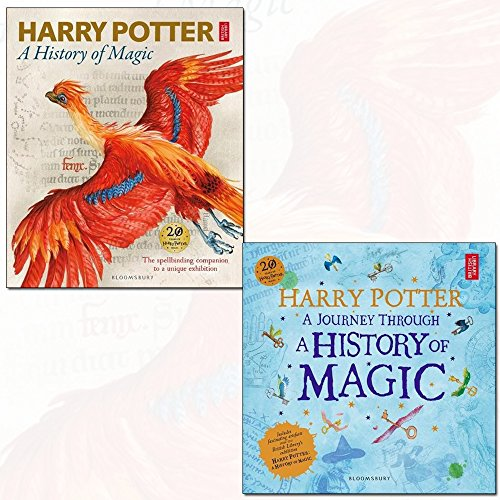 harry potter a history of magic the book of the exhibition [hardcover] and harry potter - a journey through a history of magic 2 books collection set