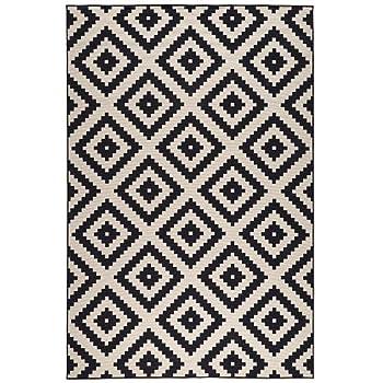 ikea lappljung ruta tapis poil ras blancnoir 200x300 cm - Tapis Ikea Grande Taille
