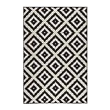Ikea LAPPLJUNG Ruta Kurzflor Teppich in weiß/Schwarz; (200x300cm)
