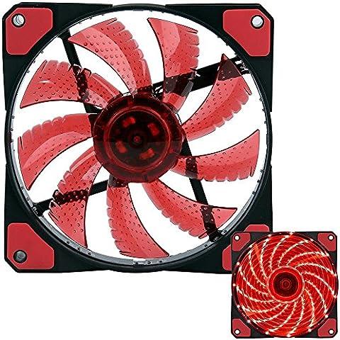 auoker 120mm ventola di raffreddamento radiatore Custodia Ventola–Alta pressione statica 120mm a LED con 15LED