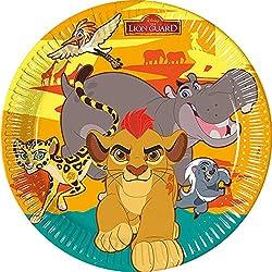 Unique Party Lot de 8 Assiettes en Carton pour fêtes Motif Disney La Garde du Roi Lion