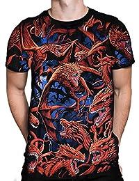 Liquid Blue Dragon Swarm - Men's T-Shirt