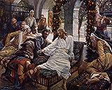 Toperfect 50€-2000€ Handgefertigte Ölgemälde - Mary Magdalenes Schachtel sehr kostbare Salbe Tissot Gemälde auf Leinwand Kunst Werk Ölmalerei - Malerei Maße17