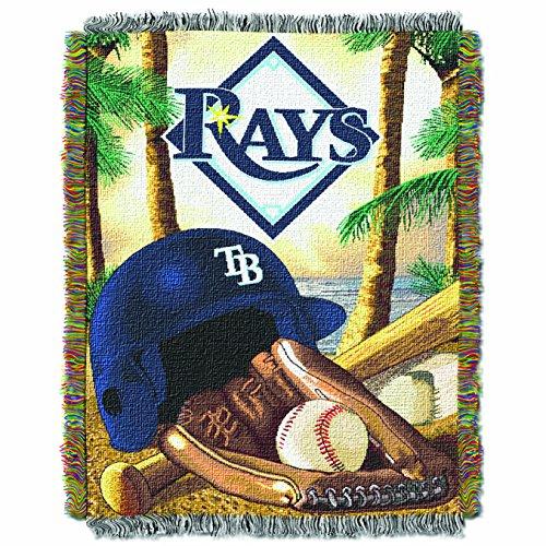y MLB Home Field Advantage Überwurf, gewebt, damen Kinder unisex Herren, MLB051, Tampa Bay Rays, 48x60 ()