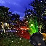 Rouge et Vert en aluminium pour extérieur Projecteur Spot lampe avec télécommande RF imperméable Star Show pour fêtes de Noël Paysage pelouse Décoration