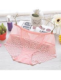 ZHANGYONG Número máximo de Mujeres no-Marca de Ropa Interior Espesor mm en  Cintura Sexy algodón Encaje Transparente Vida de 3 Punto… a645f8f74a49