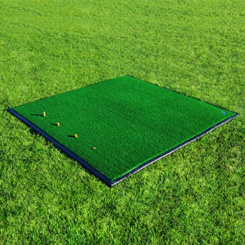 FORB Driving Range Golf Practice Mat (150cm x 150cm) (With Rubber Base) – Premier Quality Professional Fairway Mat [Net World Sports]