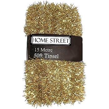 45,7/m Argent ou dor/é D/écoration de No/ël.... Homestreet/® Extra long 45/metre guirlandes dans un choix de rouge