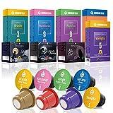 Gourmesso Bestseller Box – 80 Nespresso kompatible Kaffeekapseln – 100% Fairtrade – Die 8 beliebtesten Sorten in einer Box