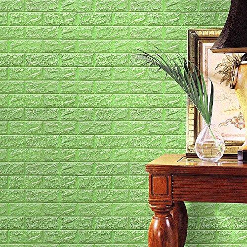 Zegeey PE Foam 3D Wallpaper DIY Wandaufkleber Embossed Brick Stone Wall Home Decor