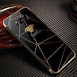 Galaxy S8 Hülle,Galaxy S8 Schutzhülle Spiegel,JAWSEU Mode Geometrische Muster Überzug Mirror Effect TPU Case für Sam