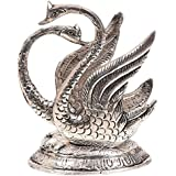 White Box Metal Swan Shaped Napkin Or Tissue Holder Silve Finish Decorative Gift Item For Dinning Showpiece
