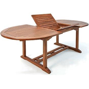 Amazon De Deuba Luxus Gartentisch Vanamo 200x100cm Eukalyptusholz