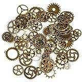 Naisicantar Lot de 50 pièces pour arts créatifs modèle mécanique vintage en alliage rouages montres roues dentées de couleurs