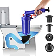 Toilet Plungers High Pressure Drainage Dredge Cleaning Tool Pressure Pump Cleaner for for Bath Bathroom Shower kitchen Clogg