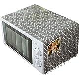 VOSAREA Housse de Réfrigérateur,Couverture Anti-poussière pour réfrigérateur Motif Gris Micro-Ondes Couvercle supérieur Couve