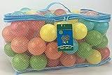 AAJ 100Palline da gioco multicolore (in borsa in rete per trasporto con manico)