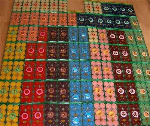 192 Duft Teelichter in ca 10 verschiedenen Düften durchgefärbt