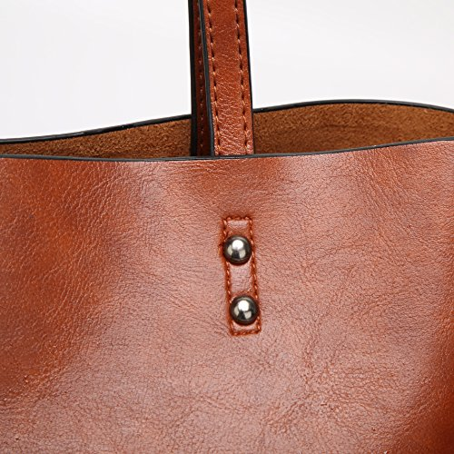 Kigurumi Borsa A Tracolla In Pelle Donna Vintage Marrone