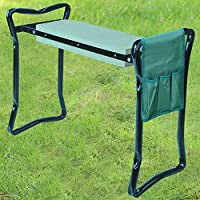 Denny International® Portable Folding 2in1 Garden Kneeler With Handles and Foam Padded Seat Bench Included FREE Tools Bag