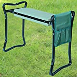Denny International® Portable Folding 2in1 Garden Kneeler With Handles and Foam Padded Seat