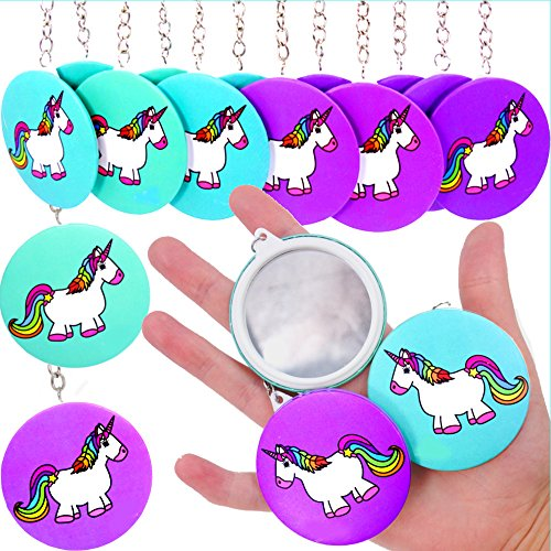 German Trendseller® 6 x espejos unicornio como llaveros┃espejos de mano┃pendientes┃ fiestas infantiles┃...