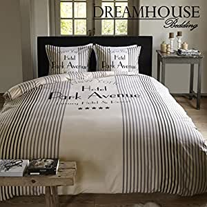 dreamhouse bedding bettw sche park avenue 200x200 220 cremewei mit 2 kissenbez ge 60x70. Black Bedroom Furniture Sets. Home Design Ideas