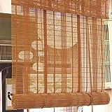 CAIJUN Tenda di bambù Tenda A Rullo Partizione Balcone Semi-Shading Protezione Solare Retro, 3 Stili, Formato Personalizzato (Colore : B, Dimensioni : 135x225cm)