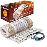 ECOFLOOR® Fußbodenheizung elektrisch 160 Watt/m² Größe wählbar 1- 12m² Fußboden-Heizmatte Twin (12 m²  = 24 m Länge)