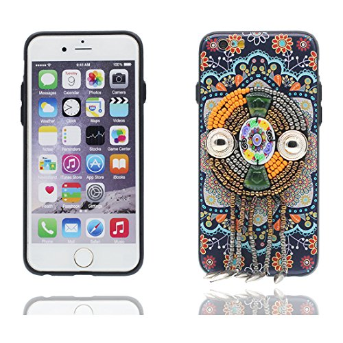 "iPhone 7 Plus Coque Cover, 3D Bead accessoire, TPU Flexible Unique Designed Style national iPhone 7 Plus Étui iPhone 7 Plus Case 5.5"" Poussière Poof élégant # 2"