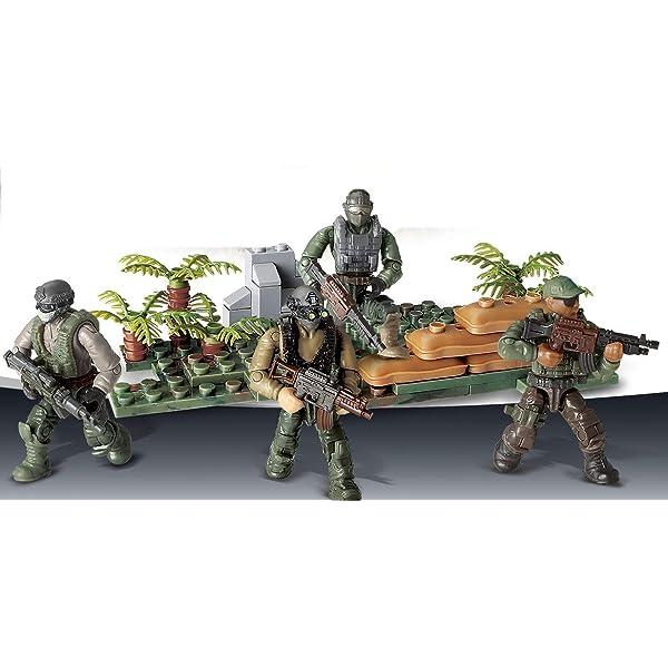 Bausteine Militär Regenwald Soldat Krieg Basis Ausrüstung Figur Spielzeug 8PCS