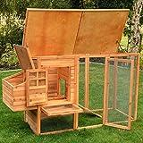 nanook Charlotte - Hühnerstall mit Freilauf, Legebox, 2 Sitzstangen, Auszugswanne - wetterfest, Größe XXL - Farbe: natur - 4