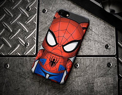 NEW SUPERHEROS JUNIOR BLACK TPU MOBILE CASE FOR APPLE IPHONE 6+/6+S STROMTROOPER SPIDERMAN J