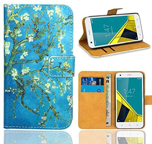 FoneExpert® Vodafone Smart Ultra 6 Handy Tasche, Wallet Case Flip Cover Hüllen Etui Ledertasche Lederhülle Premium Schutzhülle für Vodafone Smart Ultra 6 (Pattern 8)