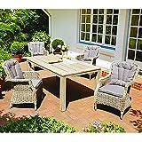 Loungegarnitur Gartenmöbel-Set Aluminiumgestell Polyrattangeflecht mit Lofttisch
