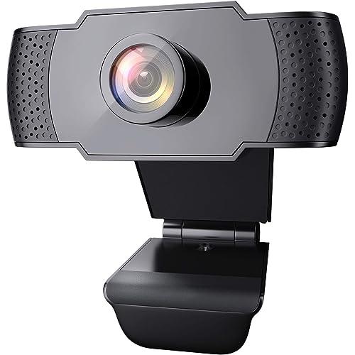 wansview Webcam 1080P con Microfono, Webcam PC Laptop Desktop Computer USB 2.0 con Clip Regolabile per Videochiamate, Studi, Registrazione e Giochi