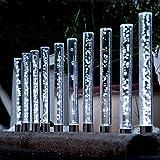 Edelstahl/ Acryl Solar LED Garten Sticks, 10 er Set. Solarleuchte mit extra großem Solarpanel und...
