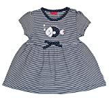 SALT AND PEPPER Baby-Mädchen Kleid B Dress Beach Stripe, Blau (Dutch 465), 68