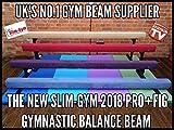 8ft (15,2cm High) Professionelle Gymnastik Gymnastikball Gym Balance Beam von slim-gym–Hot Pink Faux Wildleder–Top Of The Range, violett