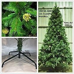 Árbol de Navidad artificial de pino verde Envio Gratis* MAXI relleno C/Soporte metálico 150cm-240cm (180CM 690 RAMAS)