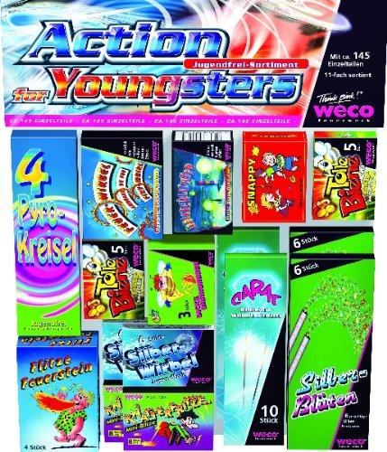 Preisvergleich Produktbild 145 Teile - ACTION FOR YOUNGSTERS - KINDERFEUERWERK
