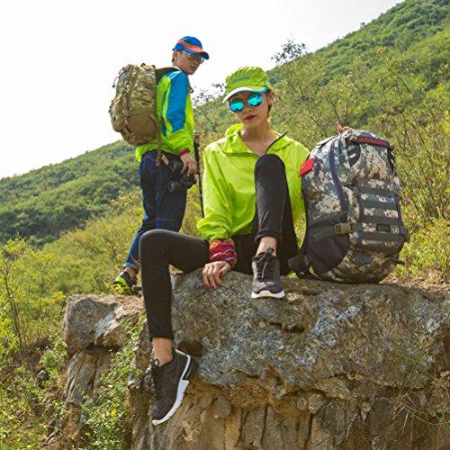 dushow militare zaino/zaino da campeggio trekking sport Ourdoor bagagli per arrampicata viaggio borsa a tracolla trekking, Uomo, Black, Taglia unica Camouflage 3