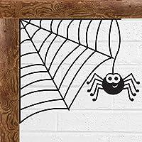 Spooky Spider Corner Web Halloween Scary Vinyl Decal Sticker Car Window Wall Art by Inspired Walls®